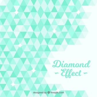 Diamond background with geometric shapes in green tones