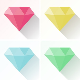 Diamond shape in four different colors