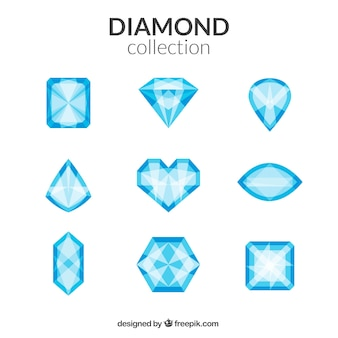 Diamonds of different shapes collection