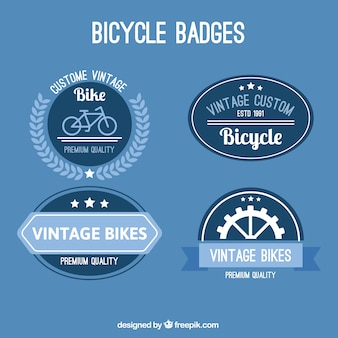 Different bike badges in retro style