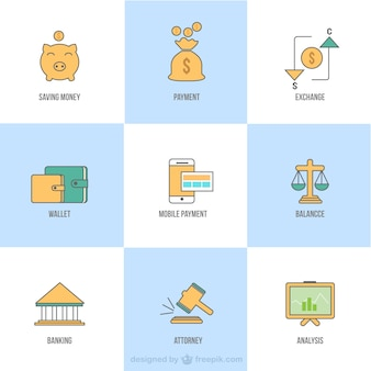 Different business icons