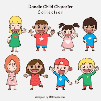 Different characters to celebrate children's day