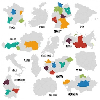 Different countries political map