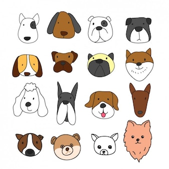 Different dog faces collection
