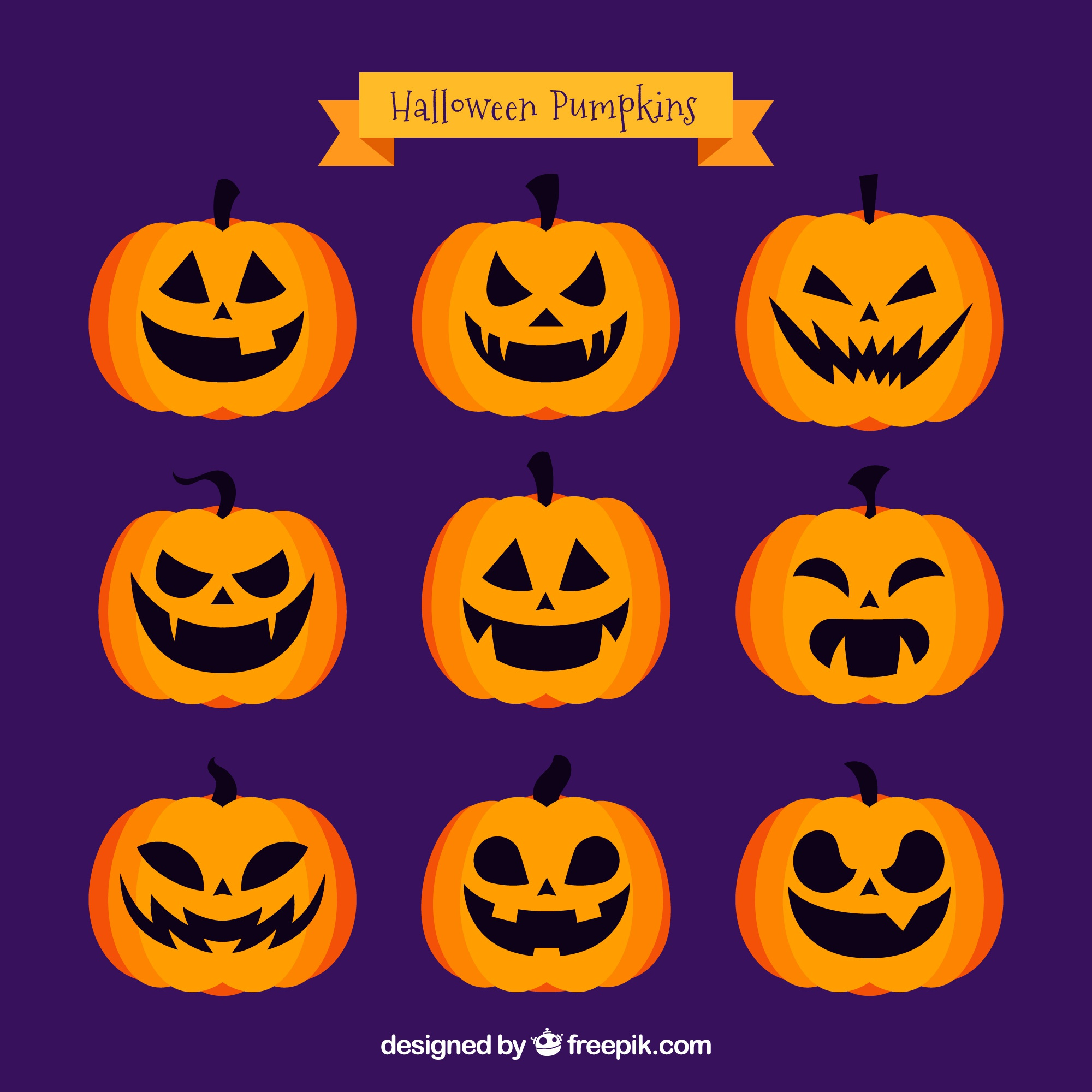 Different emotional expressions of jackolantern