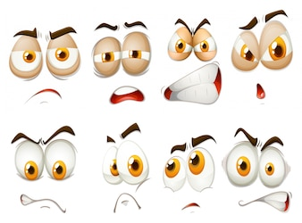 Different emotions of facial expression illustration