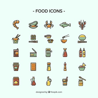 Different food icons