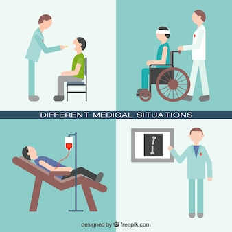 Different medical situations set