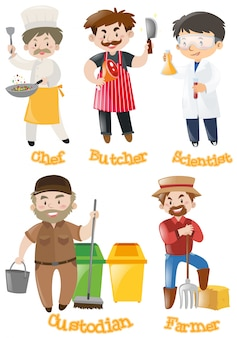 Different types of occupations