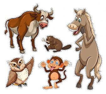 さまざまな種類の野生動物