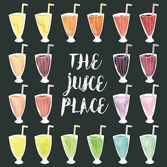 Differents juices design
