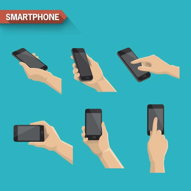 Differents smartphone actions
