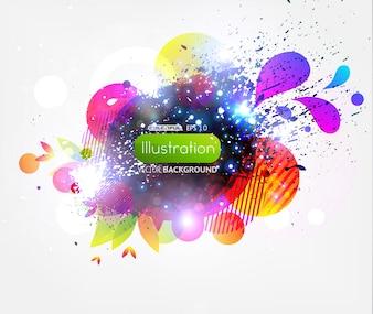 Digital art inkblot cover modern abstract