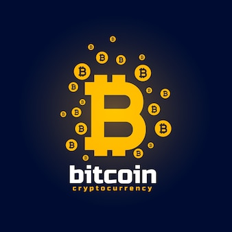 Digital bitcoin crypto currency vector background