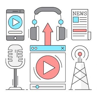 Digital broadcast illustrations