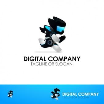 Digital company logo template