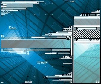 Digital elements design background vector set