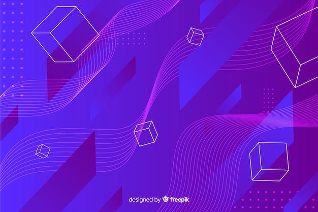 Digital geometric shapes background