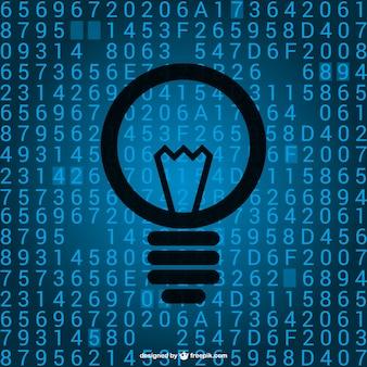Digital lightbulb background