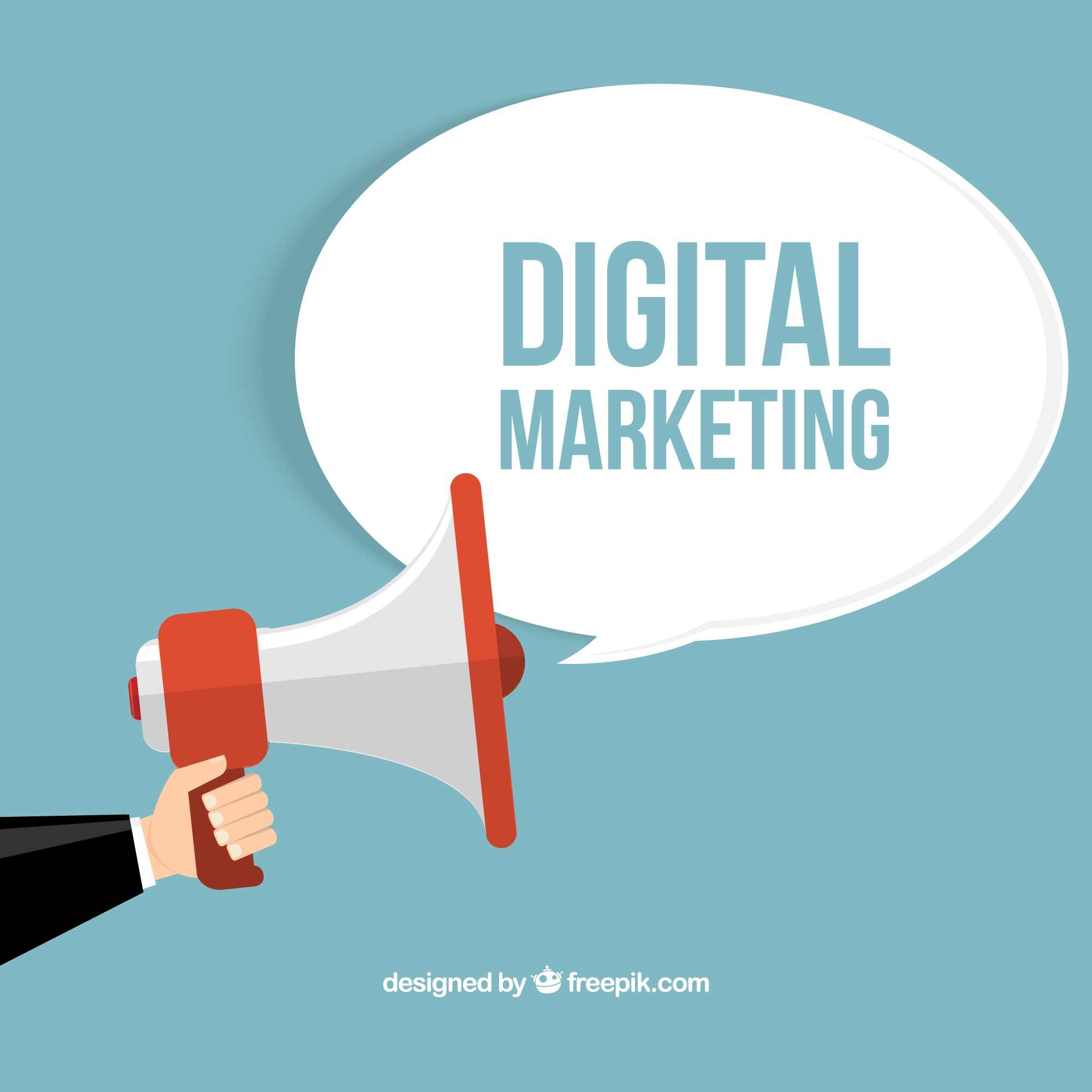 Digital marketing concept