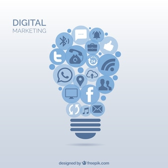Digital marketing light bulb
