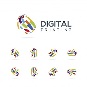 Digital printing logo collection