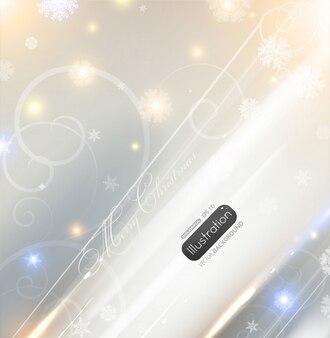 Digital santa patterns snow-flakes poster