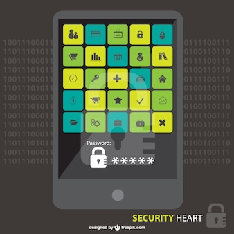 Digital security  and web icons