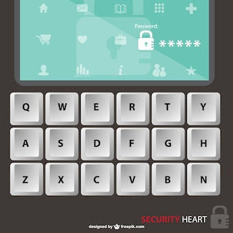 Digital security free vector
