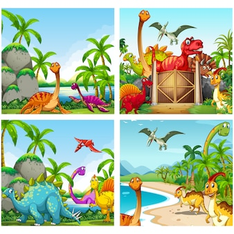 Dinosaur backgrounds collection
