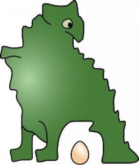 Dinosaur laid an egg