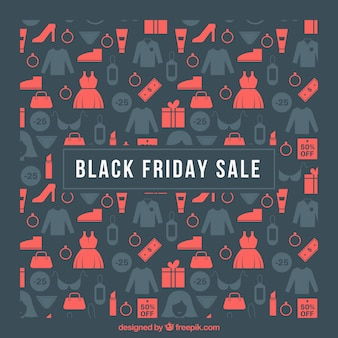 Discount background of black friday elements