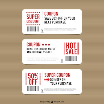 Discount coupon templates
