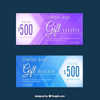 Discount coupons in abstract design