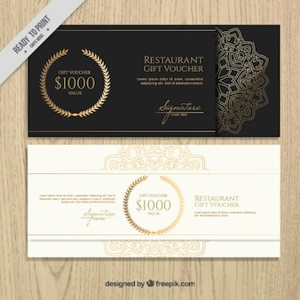 Discount coupons of elegant restaurant