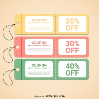 Discount coupons templates