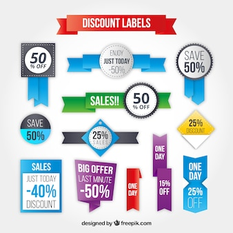 Discount labels collection