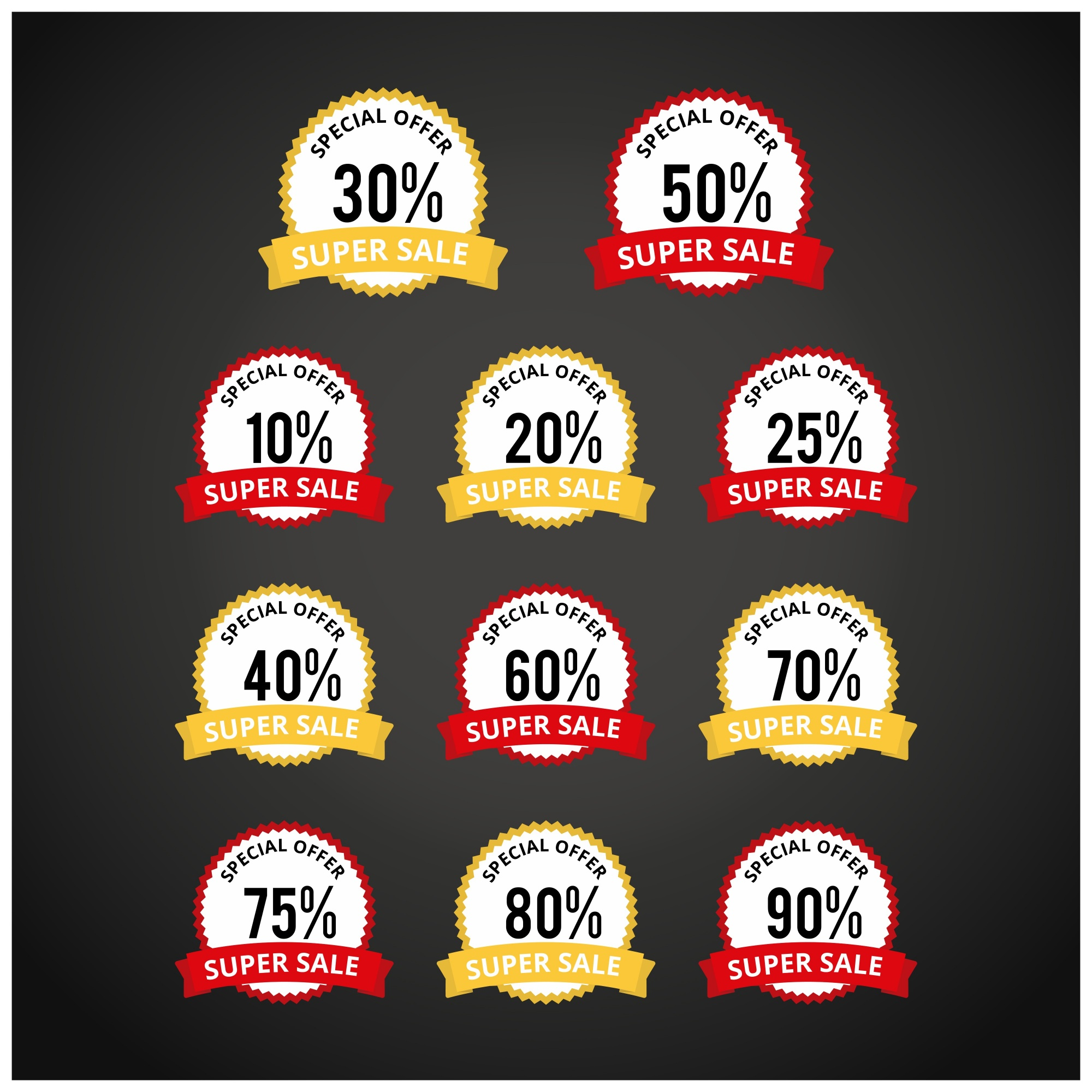 Discount price tags collection