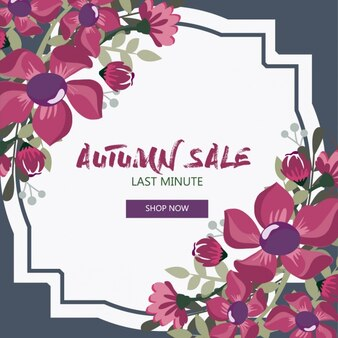 Discount voucher with beautiful flowers