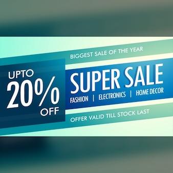 Discount voucher with blue tones