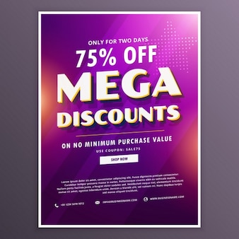 Discount voucher with blurred texture