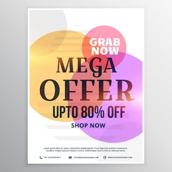 Discount voucher with colorful circles