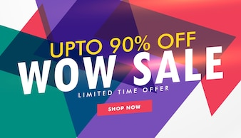 Discount voucher with colorful triangles