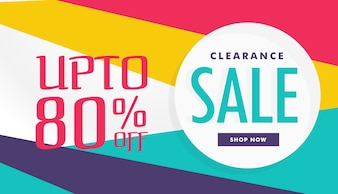 Discount voucher with different colors