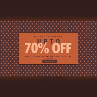 Discount voucher with dots