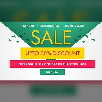 Discount voucher with triangular shapes