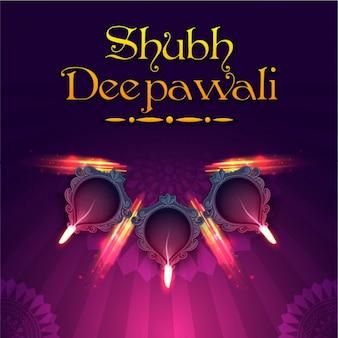 Diwali background in purple tones