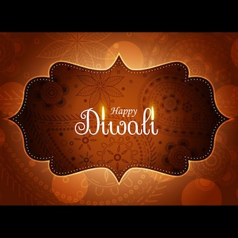Diwali background with an elegant frame