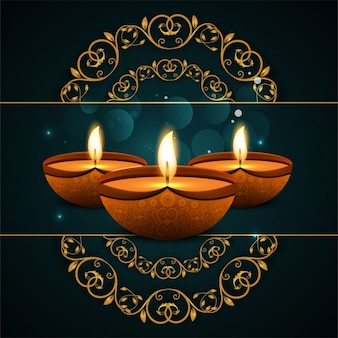 Diwali background with ornamental shapes