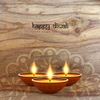 Diwali background with wooden texture